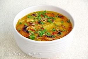 Грибной суп со сливками и шампиньонами готов