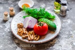 Овощной салат с грецкими орехами: Ингредиенты