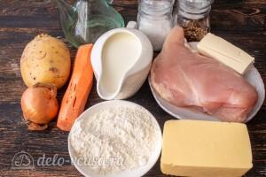 Картофельная лазанья с фаршем: Ингредиенты