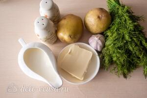 Картофельное пюре с зеленью и чесноком: Ингредиенты