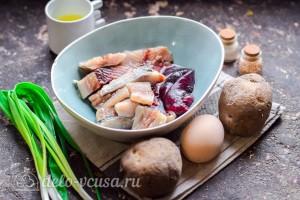 Картофельный салат с сельдью и яйцом: Ингредиенты