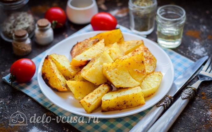 Картошка в духовке, запеченная в рукаве: фото блюда приготовленного по данному рецепту