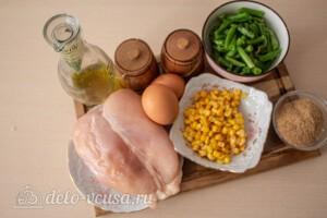 Куриные оладьи с кукурузой и фасолью: Ингредиенты