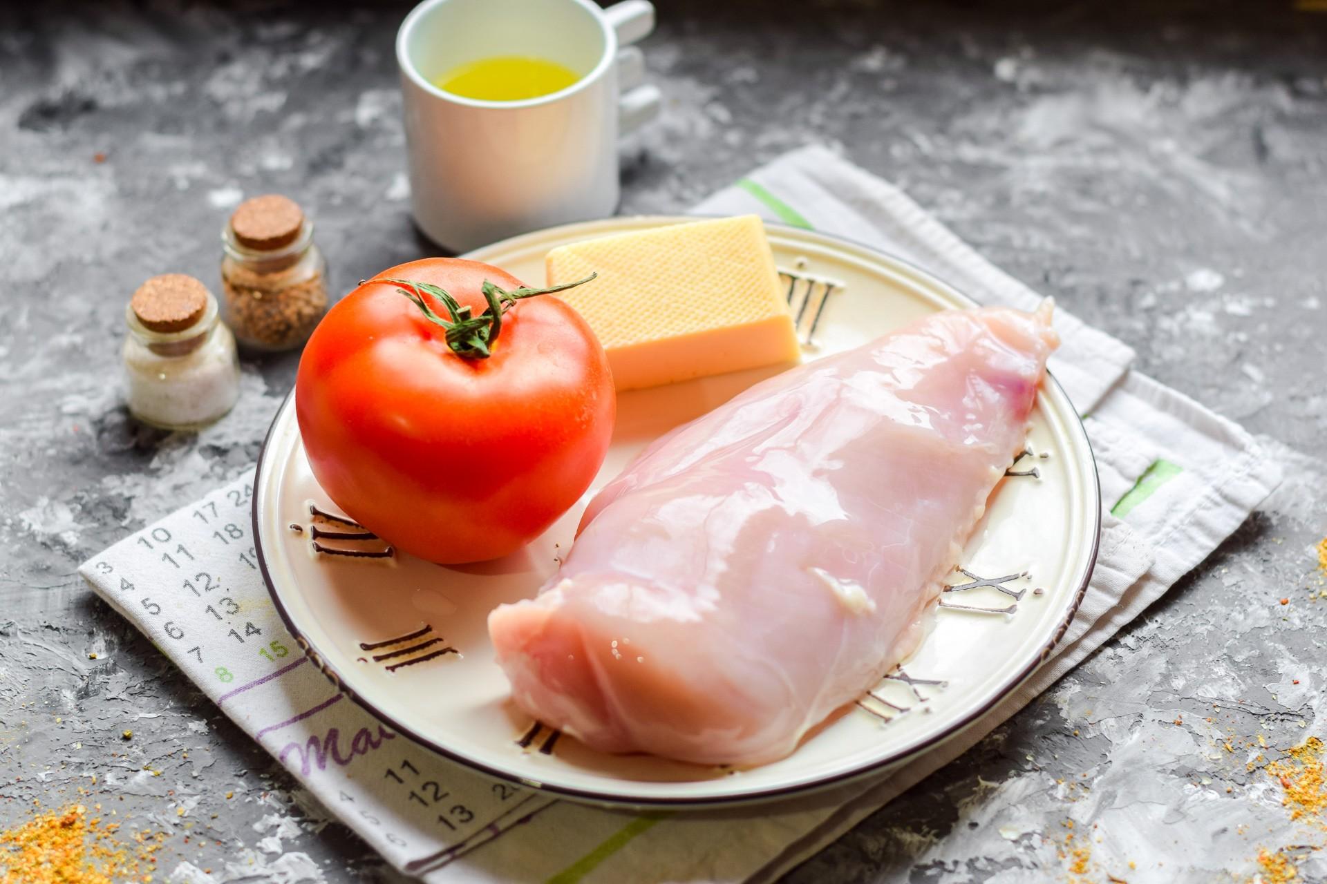 Куриные отбивные с помидорами и сыром: Ингредиенты