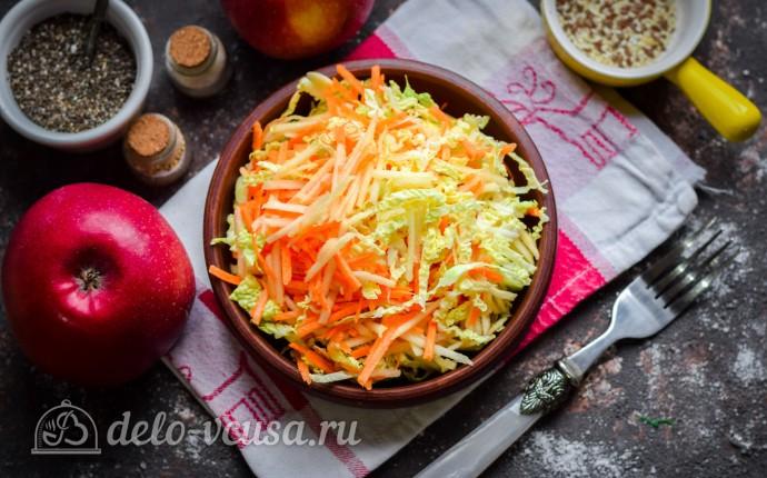 Салат «Легкий» из савойской капусты и яблок