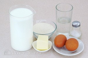 Молочный суп с клецками из манки: Ингредиенты