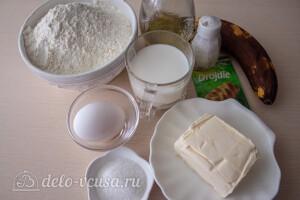 Отрывной молочный хлеб с бананом: Ингредиенты
