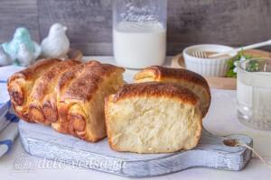 Подаем хлеб с чаем или кофе