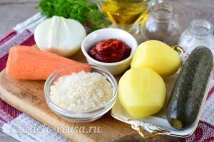 Постный рассольник с рисом: Ингредиенты