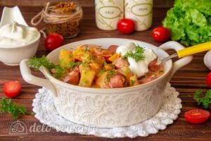 Овощное рагу с сосисками и картошкой готово