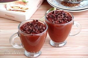 Шоколадный пудинг с апельсиновым соком готов