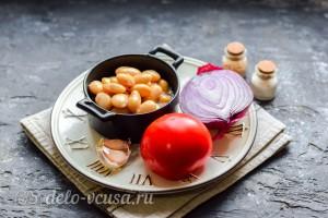 Пикантный салат из фасоли и помидоров: Ингредиенты