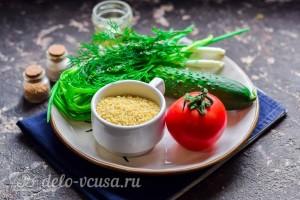 Салат из булгура, помидоров и огурца: Ингредиенты