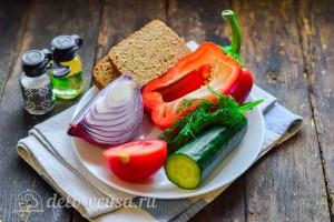 Салат по-селянски с сухариками: Ингредиенты