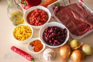 Мексиканский суп Чили Кон Карне: Ингредиенты