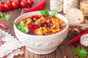 Мексиканский суп чили готов