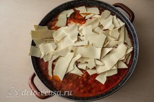 Добавляем пасту в суп и варим 15 минут