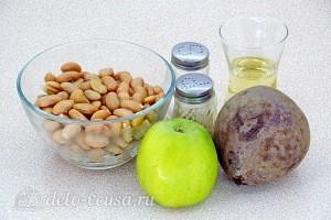 Постный свекольный салат с фасолью и яблоком: Ингредиенты