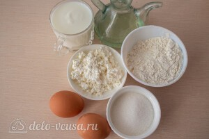Творожные блины на кефире: Ингредиенты