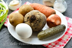 Винегрет с яйцом и майонезом: Ингредиенты