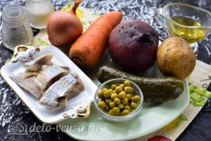 Винегрет с сельдью и горошком: Ингредиенты