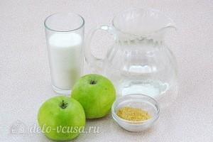 Яблочный мусс на желатине: Ингредиенты