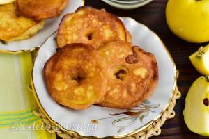 Яблочные пончики на скорую руку готовы