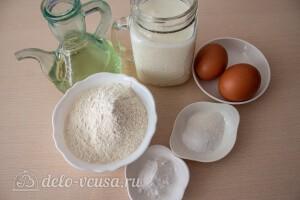 Заварные блины на кефире: Ингредиенты