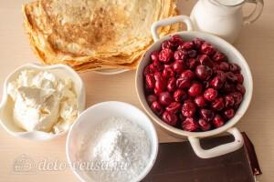 """Блинный торт с вишней """"Монастырская изба"""": Ингредиенты"""