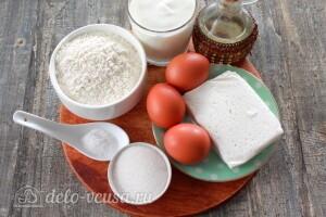 Блины на кефире с творогом: Ингредиенты