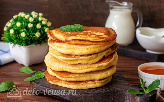 Рецепт кукурузные панкейки на кефире