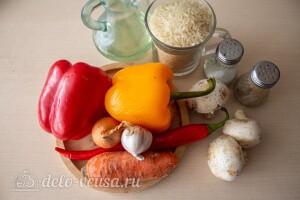 Ленивая паэлья с овощами и грибами: Ингредиенты