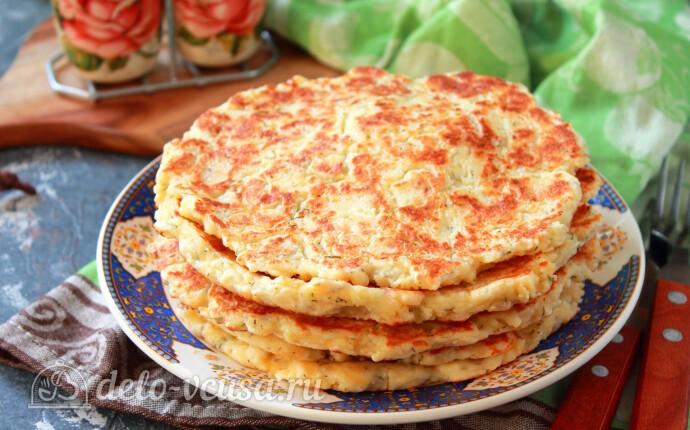 Ленивые хачапури с творогом на сковороде