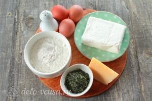 Ленивые хачапури с творогом на сковороде: Ингредиенты
