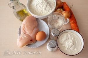 """Ленивые пельмени """"Розочки"""" в сметанном соусе на сковороде: Ингредиенты"""