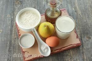 Оладьи с грушевым припеком: Ингредиенты