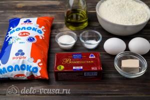 Пышные дрожжевые блины на молоке: Ингредиенты