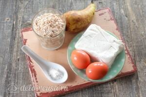 ПП овсяное печенье с творогом и грушей без муки: Ингредиенты
