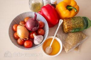 Салат из булгура со сладким перцем и помидорами: Ингредиенты