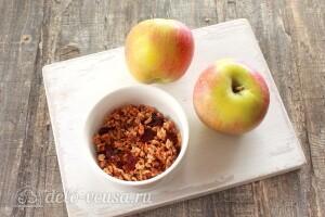 Запеченные яблоки с гранолой: Ингредиенты