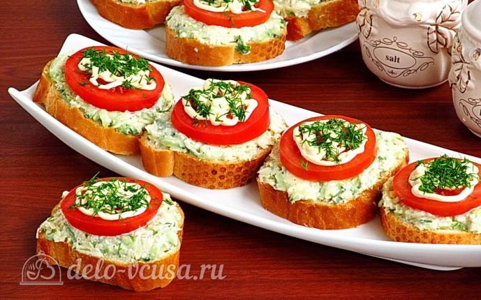 "Бутерброды ""Ностальгия"" с помидорами"