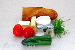 """Бутерброды """"Ностальгия"""" с помидорами: Ингредиенты"""