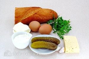"""Бутерброды """"Сюрприз"""" с соленым огурцом: Ингредиенты"""