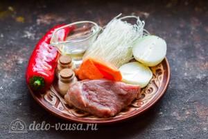 Фунчоза с говядиной и сладким перцем: Ингредиенты