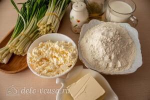 Лепёшки с творогом и черемшой: Ингредиенты