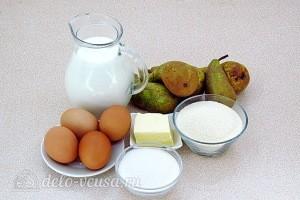 Сладкая манная запеканка с грушами: Ингредиенты