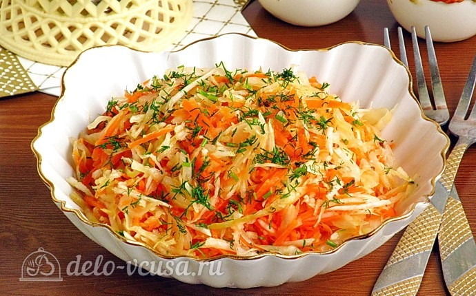 Постный салат из редьки и квашеной капусты: фото блюда приготовленного по данному рецепту