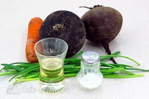 """Постный салат """"Витаминный"""" из свеклы и черной редьки: Ингредиенты"""