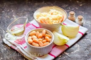 Салат из квашеной капусты с фасолью: Ингредиенты