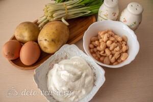 Салат с черемшой, картофелем и фасолью: Ингредиенты